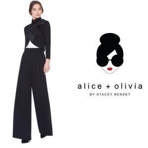 Alice + Olivia Employed High Waisted Wide Leg Pant